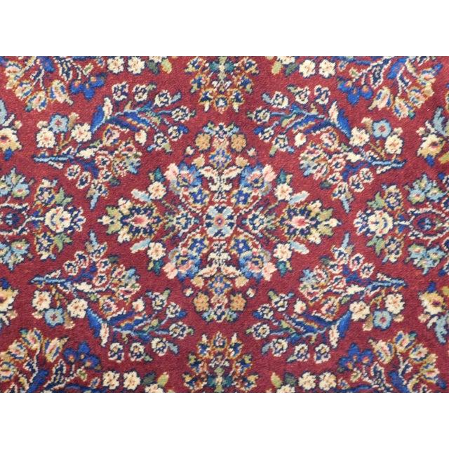 Textile Karastan Red Sarouk #785 Rug 5' x 2' Multicolor Area Throw Rug For Sale - Image 7 of 13