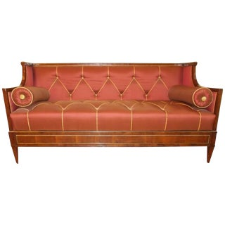 Early 19th Century Yew Wood Baltic Empire Sofa For Sale