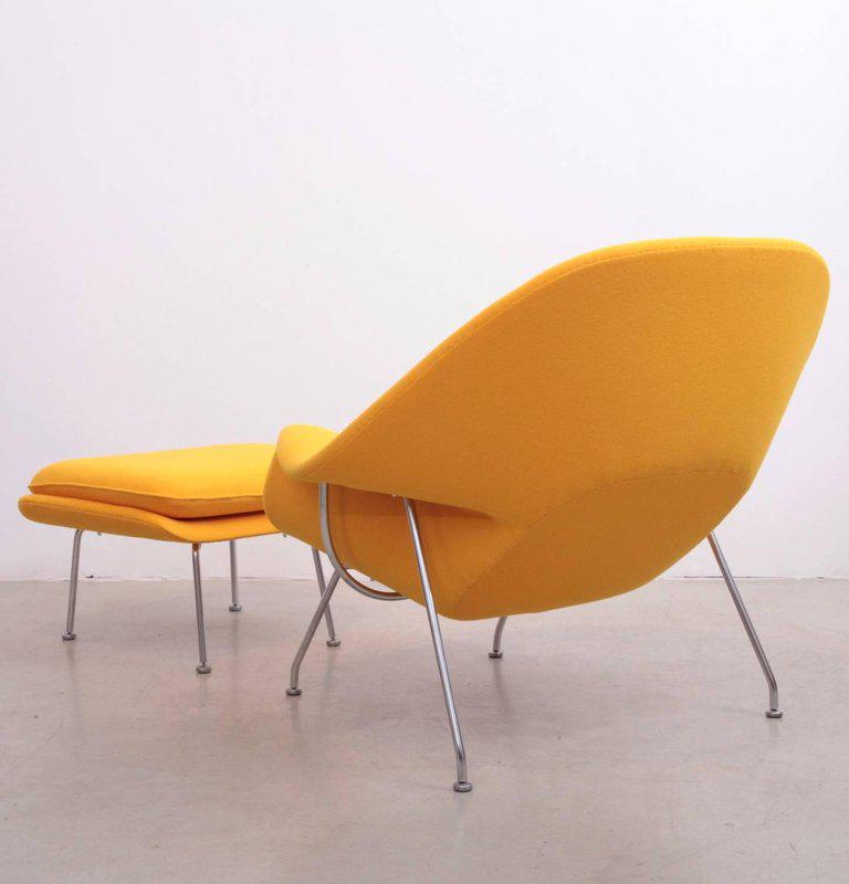 Eero Saarinen Womb Chair With Ottoman By Knoll In New Kvadrat Fabric    Image 3 Of