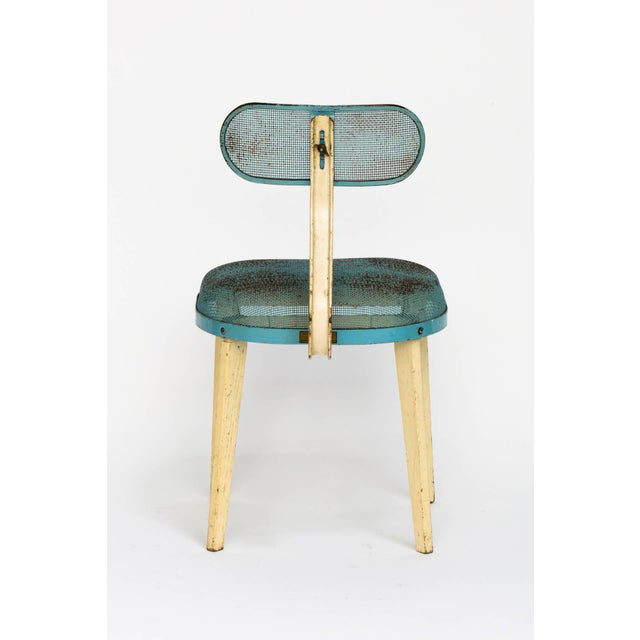 Mid 20th Century Metal Mesh Chair in the Manner of Jean Prouve For Sale - Image 5 of 11