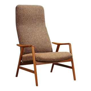 Danish Contour upholstered chair by Alf Svensson for Fritz Hansen, 1960s For Sale
