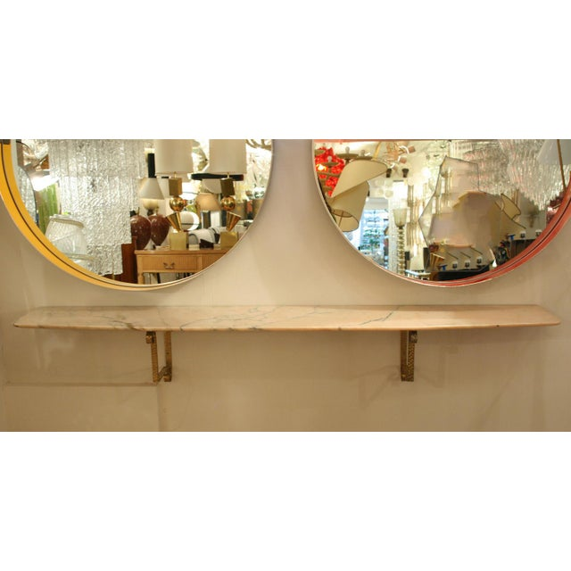 Italian Eugenio Colli Wall Mount Marble Console For Sale - Image 3 of 4