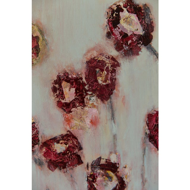 "Abstract Bill Tansey ""Field Flowers 2"" Floral Oil on Canvas For Sale - Image 3 of 5"