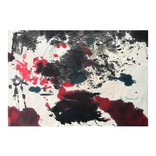 Abstract Expressionist Work by Taro Yamamoto For Sale
