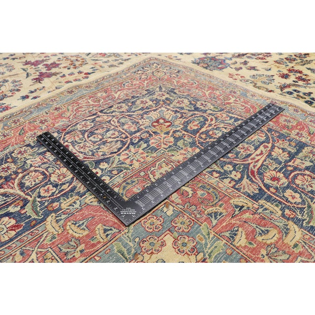 Early 20th Century Antique Persian Kerman Palace Size Rug - 12′10″ × 15′2″ For Sale - Image 5 of 10