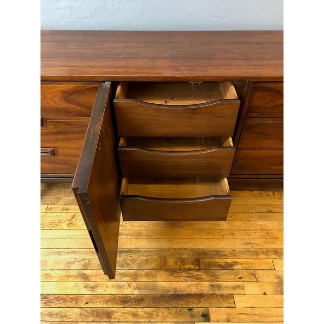 Mid Century Walnut Credenza Style Lowboy Dresser 1960's For Sale - Image 10 of 13