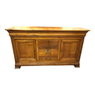 19th Century Vintage French Louis Philippe Enfilade Sideboard For Sale