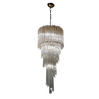 20th Century Five-Tier Spiral Chandelier by Paolo Venini For Sale