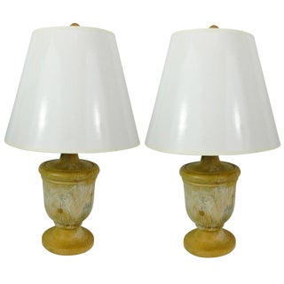 Pair of Capitol Fragments Adapted as Lamps, 19th Century For Sale