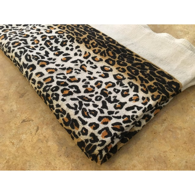 Large Thin Leopard Cashmere Throw - Image 7 of 10