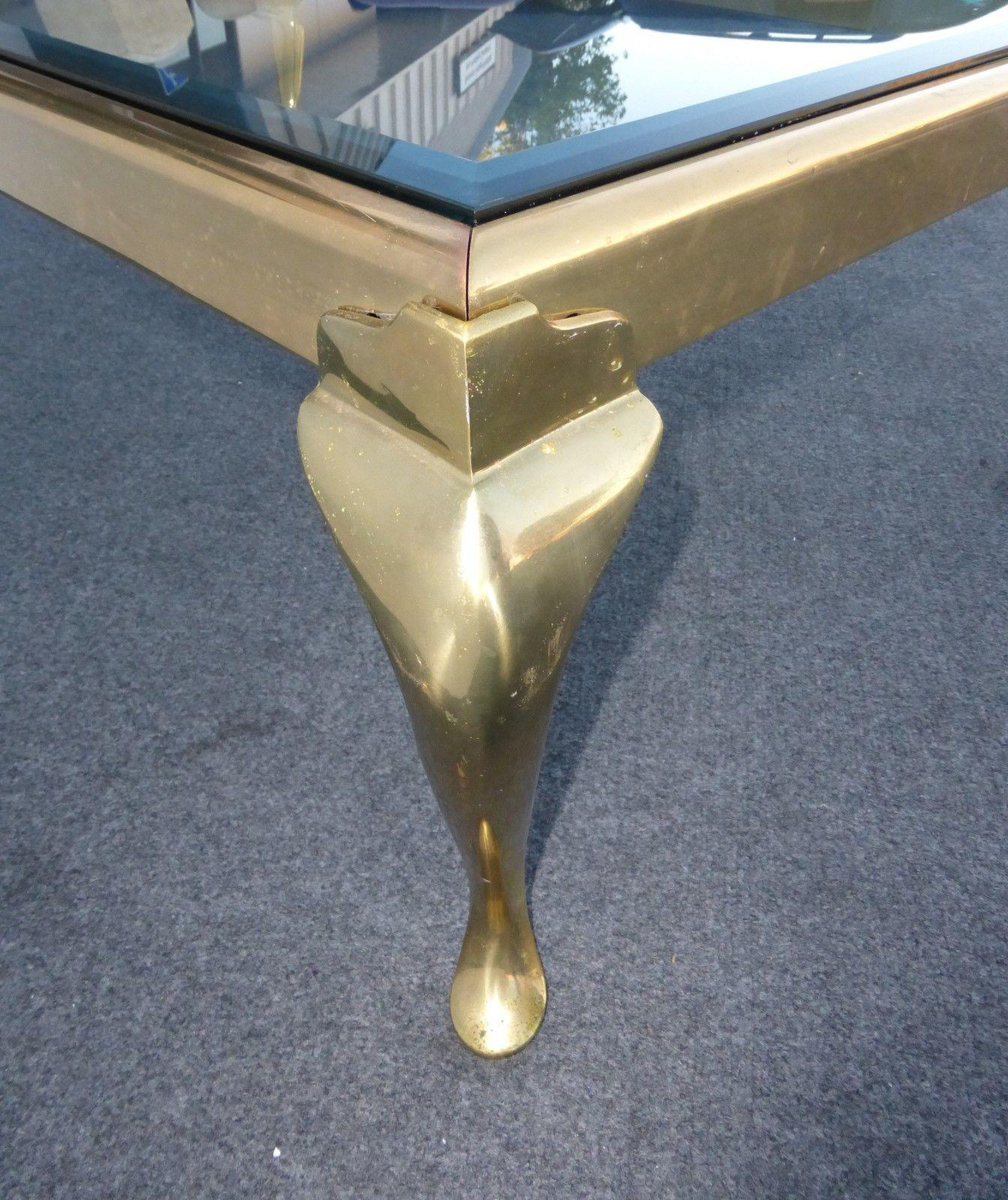 Vintage Oblong Brass Coffee Table by the Brass Collection by Melvin