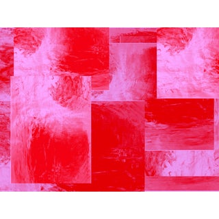 Suga Lane - Untitled Limited Edition Abstract Red Pink Print