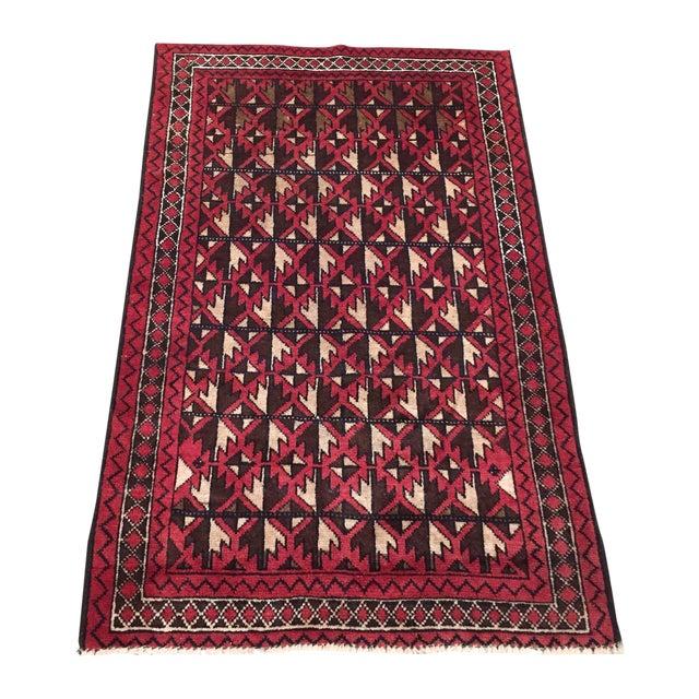 Balluchi Persian Handmade Rug - 2′11″ × 4′7″ - Image 1 of 8