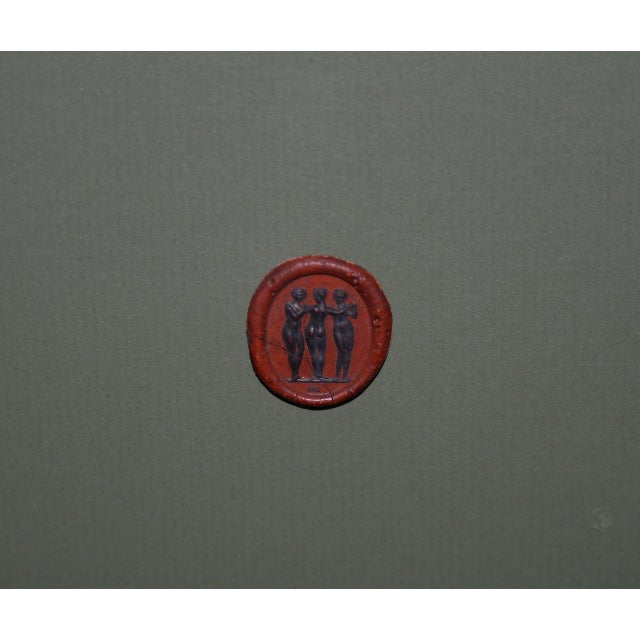 Wax Fine Collection of 19th Century Wax Seals For Sale - Image 7 of 12