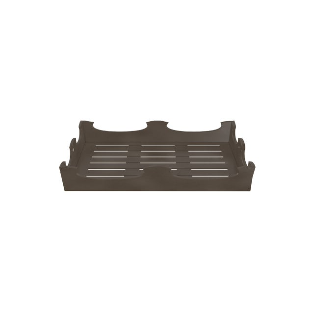 Metal Oomph Ocean Drive Outdoor Console Tray, Dark Gray For Sale - Image 7 of 8