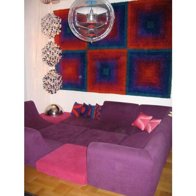 Rosenthal Mid Century Modern Space Age Panton Colombo Era Luigi Colani Pool Sofa For Sale - Image 4 of 6