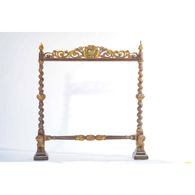 19th C. Italian Polychromed Fireplace Surround For Sale In Los Angeles - Image 6 of 6