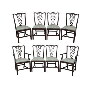 Councill Craftsman Solid Mahogany Chippendale Style Dining Chairs - Set of 8