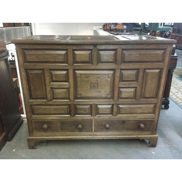 Welsh Oak Mule Chest Circa 1820 For Sale - Image 9 of 9
