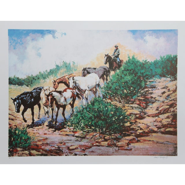 Rustic Noel Daggett, Last of the Strays, Lithograph For Sale - Image 3 of 3