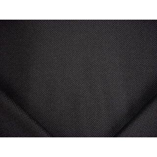 Traditional Ralph Lauren Balines Herringbone Black Wool Upholstery Fabric - 2-5/8y For Sale