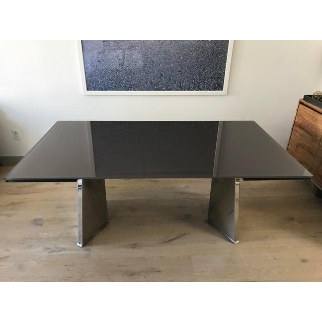 Custom Italian Modern Glass Dining Table - Image 2 of 10