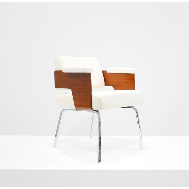 "Antoine Philippon & Jacqueline Lecoq ""Comfort"" Armchair C. 1950 For Sale In Los Angeles - Image 6 of 6"