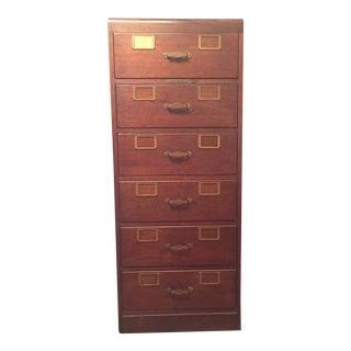 Solid Oak Library Bureau Card Catalogue File Cabinet For Sale