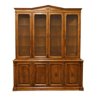 """20th Century Traditional Davis Cabinet Co. Cherry Collection 72"""" Illuminated China Cabinet For Sale"""