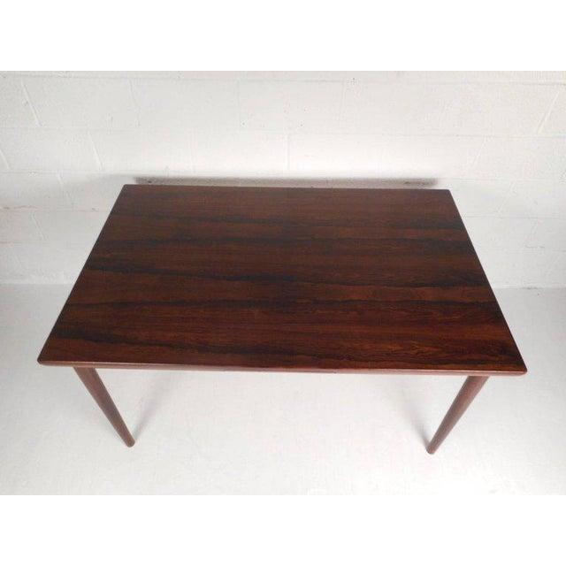 Mid-Century Modern Vintage Edmund Jorgensen Modern Rosewood Draw Leaf Dining Table For Sale - Image 3 of 9