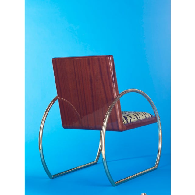 2010s D-Ring Lounge Chair by Artist Troy Smith - Contemporary Design - Artist Proof - Custom Furniture For Sale - Image 5 of 10