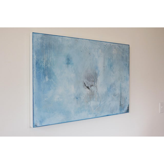 Blue Veil. Original Mixed Media Oil on Canvas by C. Damien Fox 2018 - Image 2 of 9