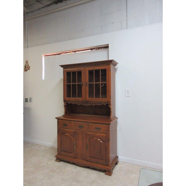 Vintage Maple Chippendale Carved China Cabinet For Sale - Image 4 of 11