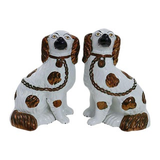 Antique Staffordshire Copper Dogs - Pair For Sale