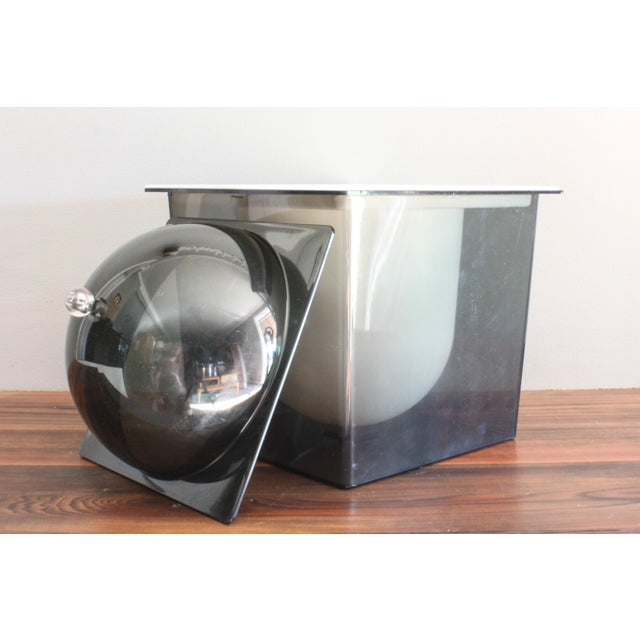 1960s Atomic Mid Century Modern Smoked Plexi 3-Piece Ice Bucket For Sale - Image 4 of 8