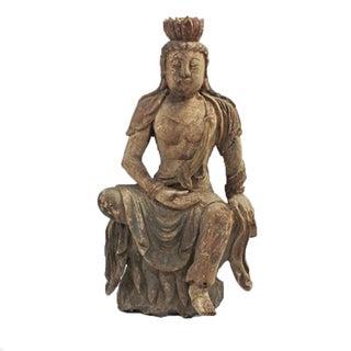 Antique Sitting Quan Yin For Sale