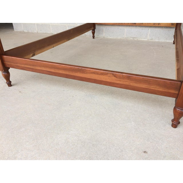 Pennsylvania House Poster Solid Cherry Candlelight Finish Chippendale Double Bed Frame - Image 9 of 11