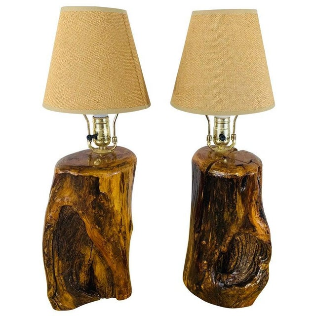 Organic Modern Design Maple Wood Table Lamps, a Pair For Sale - Image 13 of 13