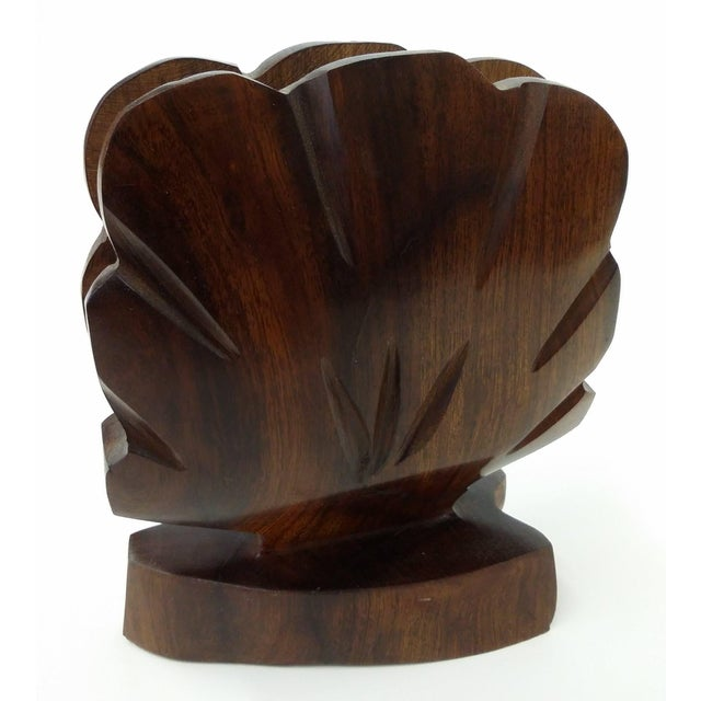 Brown Heavy Ironwood Napkin or Letter Holder For Sale - Image 8 of 10
