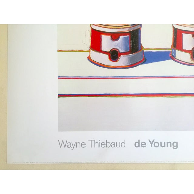 "Wayne Thiebaud Lithograph Print Pop Art Museum Poster "" Three Machines "" 1963 For Sale - Image 9 of 12"