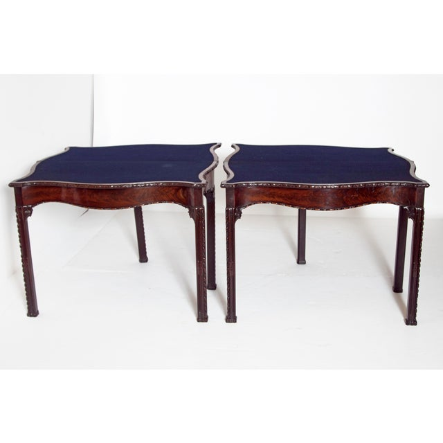 Mid 18th Century Pair of 18th Century George III Mahogany Card Tables For Sale - Image 5 of 13