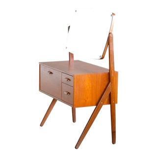 Danish Midcentury Y-Leg Teak Vanity or Dresser by Ørum Møbler