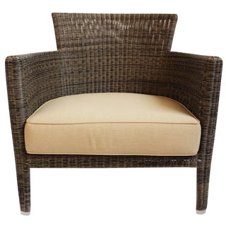 Woven Fiber Lounge Chair For Sale
