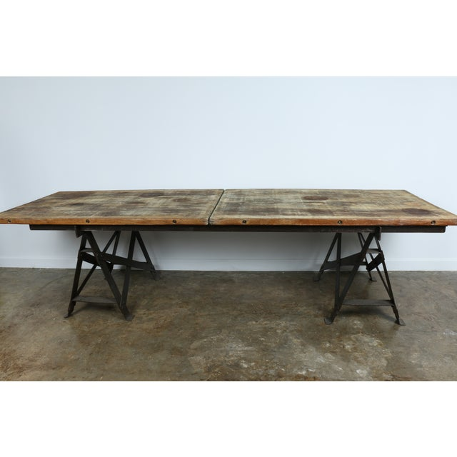 Vintage Industrial Table - Image 2 of 11