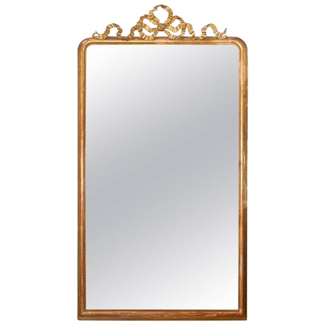 Antique French Gilt Louis Philippe Floor Mirror | Chairish