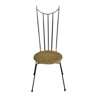 1960s American Iron Side Chair For Sale
