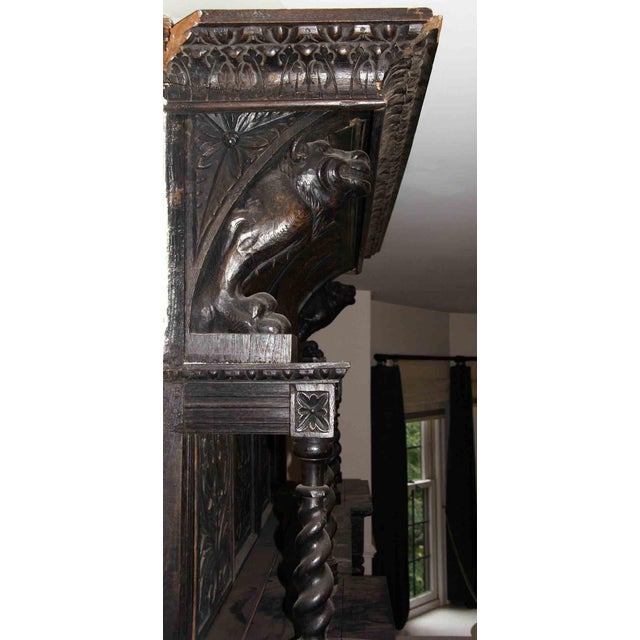 Figurative Late 19th Century German Renaissance Style Carved Chestnut Mantel For Sale - Image 3 of 11