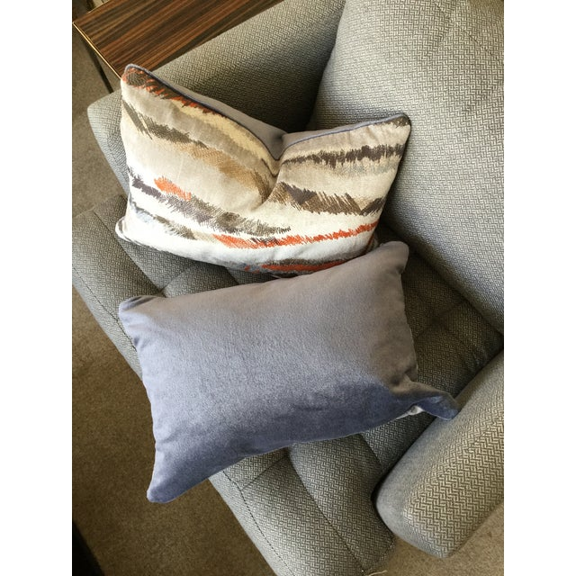 Donghia Rubelli Silver Copper Tiger Striped Wave Velvet Lumbar Pillows - A Pair For Sale In New York - Image 6 of 6