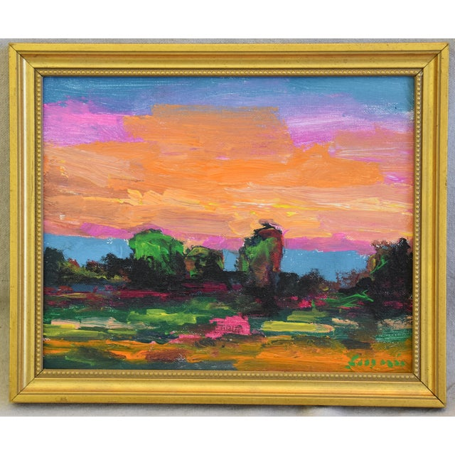 Blue Juan Pepe Guzman Ojai California Sunset & Landscape Painting For Sale - Image 8 of 9