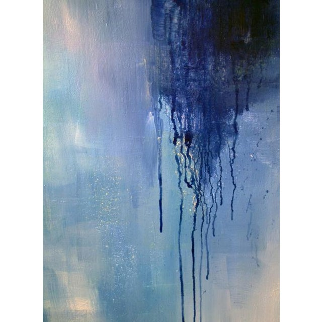 Abstract Dolores Tema, Neo Blue Painting, 2015 For Sale - Image 3 of 5
